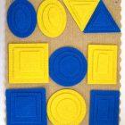 Эталонные фигуры (ковролин, 5 фигур, 4 цв., 3 разм.), Воскобович
