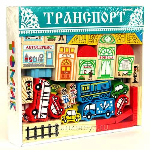 Деревянный конструктор Томик Транспорт купить в интернет-магазине robinzoniya.ru.