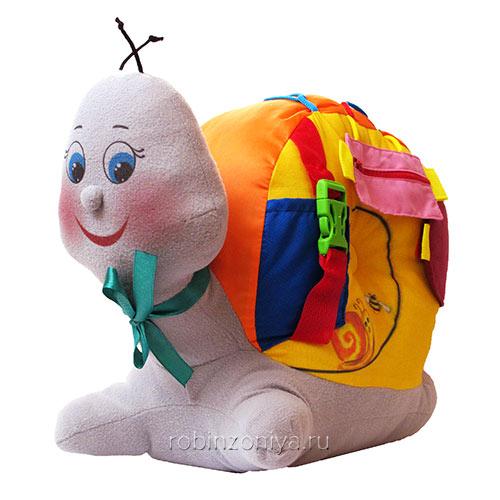 Мягкая игрушка Улитка от «Наивный мир» купить с доставкой по России в интернет-магазине robinzoniya.ru.