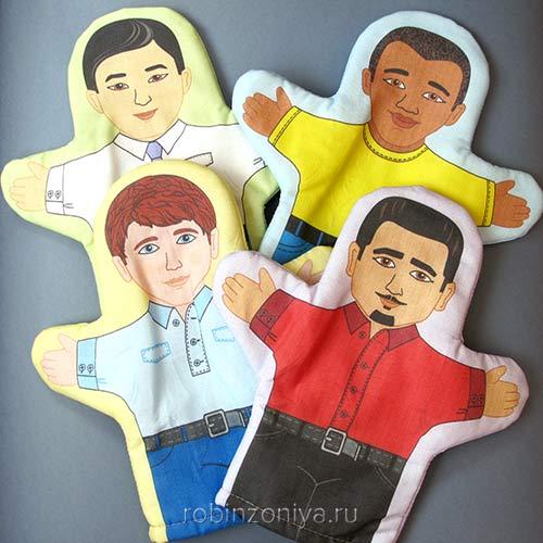 Куклы рукавички Расы (4 шт.) купить с доставкой по России в интернет-магазине robinzoniya.ru.