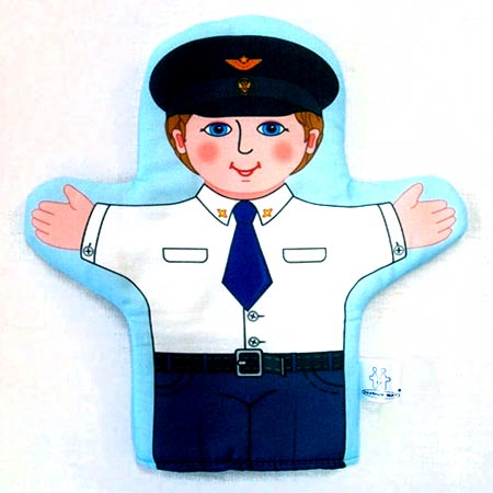 Кукла на руку Летчик
