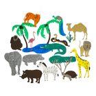 Игры из ковролина Животные жарких стран