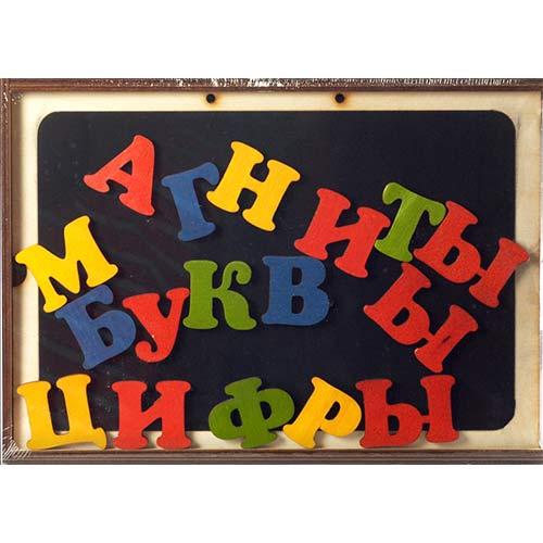 Магнитные буквы и цифры из дерева в коробке купить в интернет-магазине robinzoniya.ru.