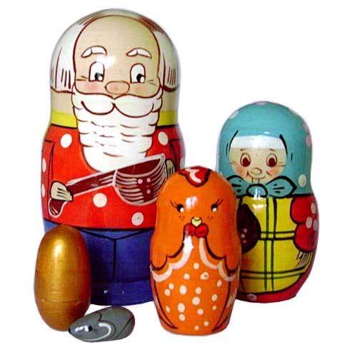 Матрешка Курочка Ряба купить в интернет-магазине robinzoniya.ru.