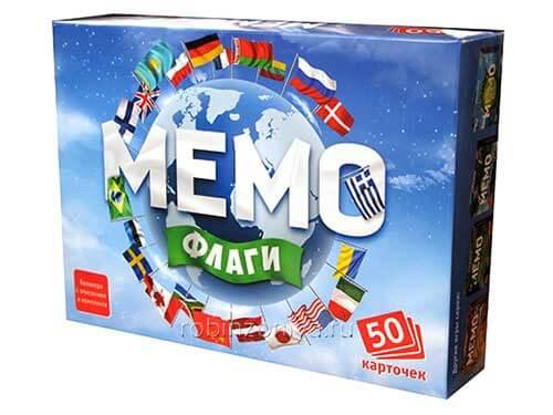 Игра Мемо Флаги купить с доставкой по России в интернет-магазине robinzoniya.ru.