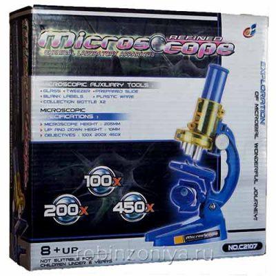 Микроскоп для детей без подсветки (до 450х)