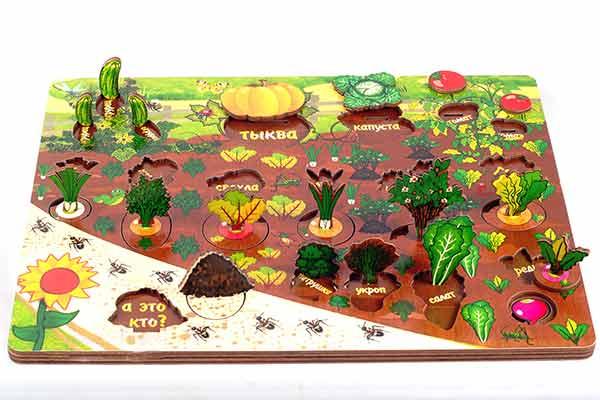 Рамка с вкладышами Овощи на грядке купить в интернет-магазине robinzoniya.ru.