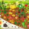 Рамка с вкладышами Овощи на грядке