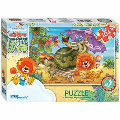 Пазл Львенок и черепаха (104 детали)