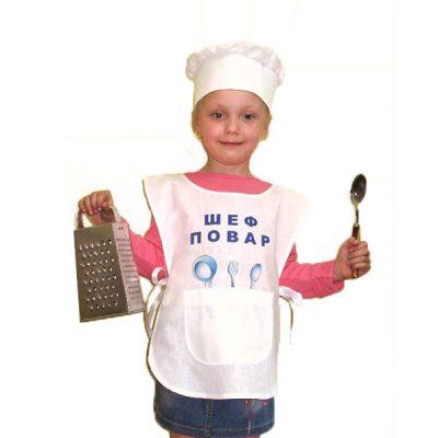 Костюм детский Повар (накидка и шапочка)