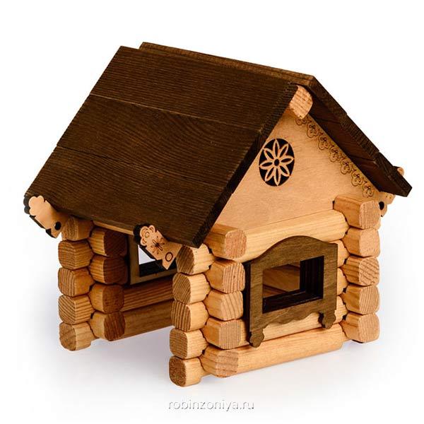 Деревянный конструктор Изба от Томик