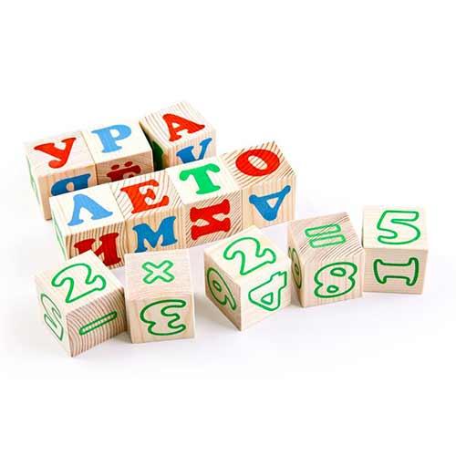 Кубики Алфавит с цифрами от Томик 20 шт. купить с доставкой по России на robinzoniya.ru.