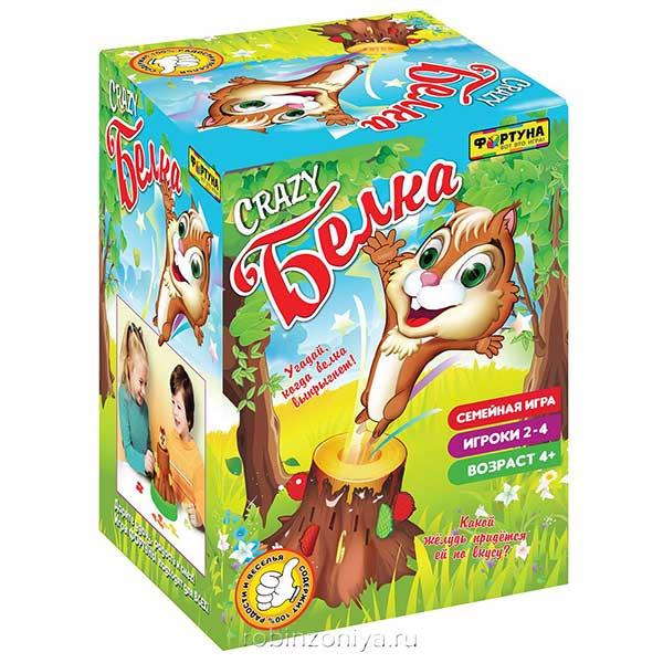 Настольная игра Crazy белка от Фортуна купить в интернет-магазине robinzoniya.ru.