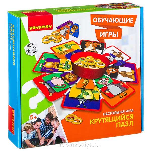 Настольная игра Крутящийся пазл от Bondibon купить в интернет-магазине robinzoniya.ru.