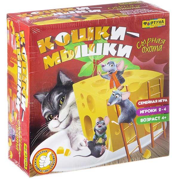Настольная игра «Кошки-мышки. Сырная охота» от Фортуна купить в интернет-магазине robinzoniya.ru.