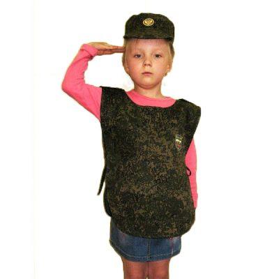 Костюм детский Военный (накидка и шапочка)
