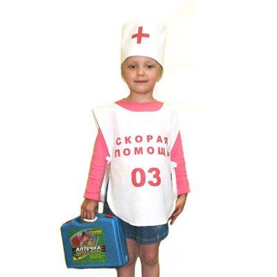 Костюм детский Врач (накидка и шапочка)