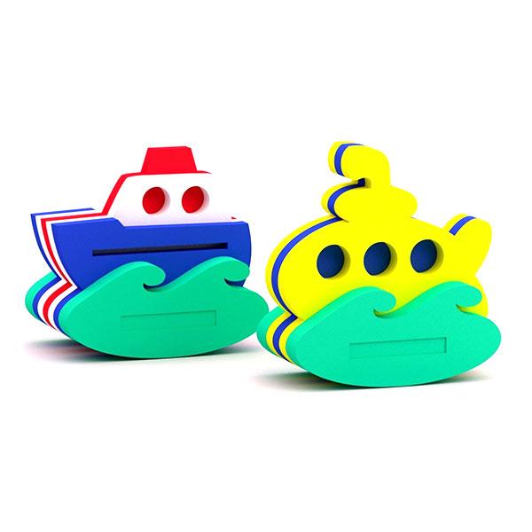 Конструктор — игрушка для купания Кораблик + Подводная лодка, El'Basco Toys