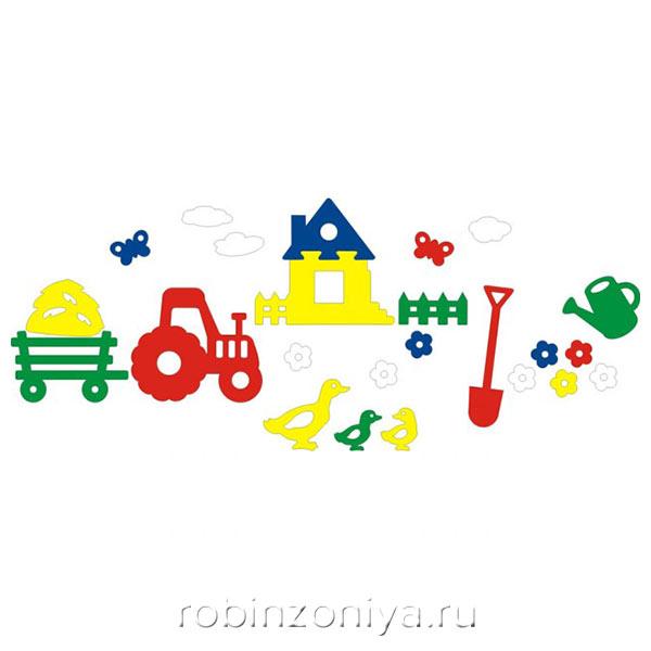 Мозаика игрушка для ванны Деревня, Флексика