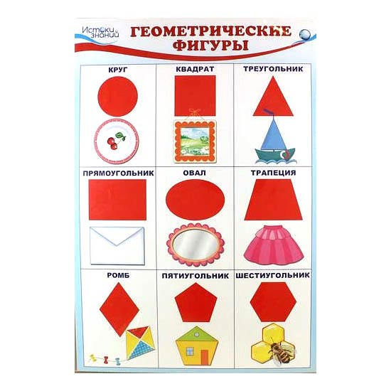 Плакат Геометрические фигуры А3