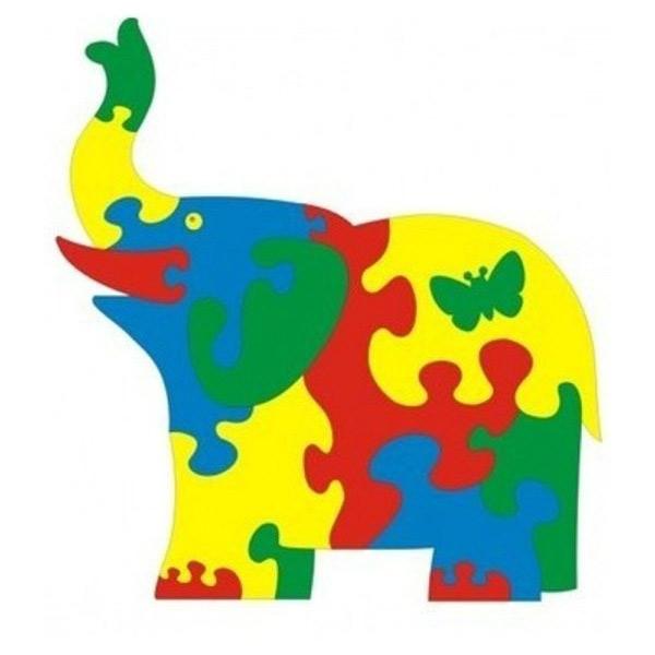 Мягкий коврик пазл для детей Слон