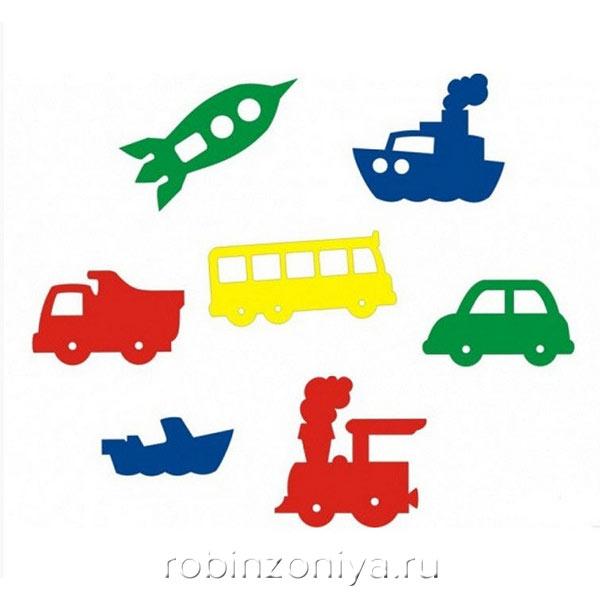 Мозаика игрушка для ванны Мир транспорта, Флексика