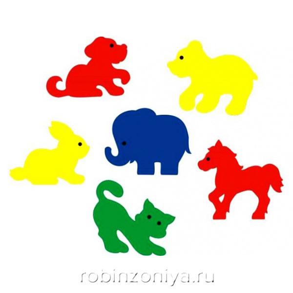 Мозаика игрушка для ванны Мир животных, Флексика