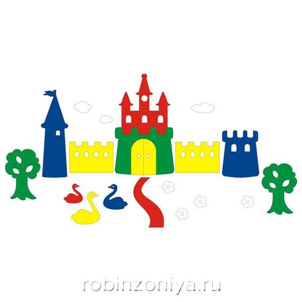 Мозаика игрушка для ванны Замок, Флексика