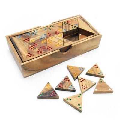 Треугольно домино Thai Wood (тримино)