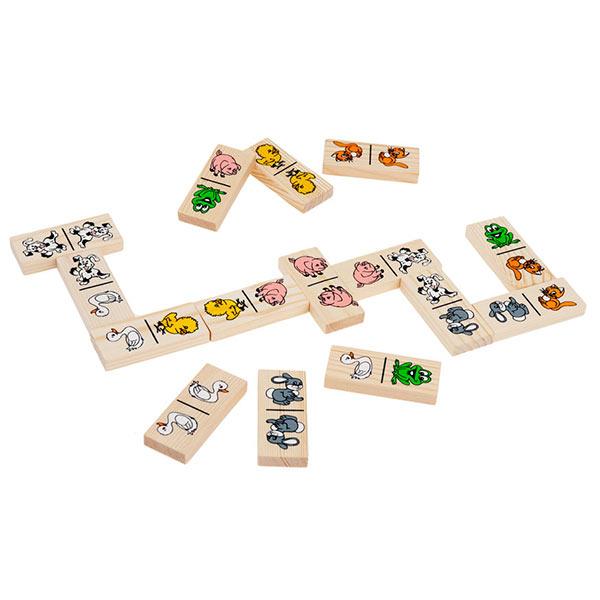 Детская игра домино Животные Томик