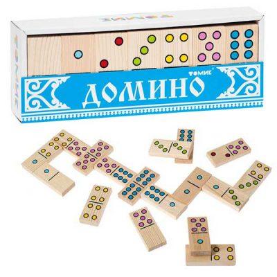 Детская игра домино Точки Томик