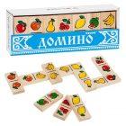Детская игра домино Фрукты ягоды Томик