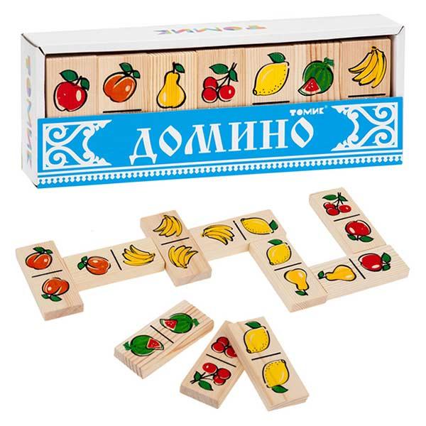 Детское домино Фрукты ягоды Томик