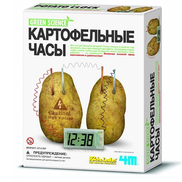 опыт Картофельные часы 4M коробка