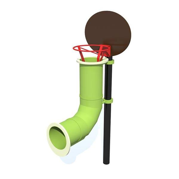 Баскетбольное кольцо с пластиковой трубой 4034