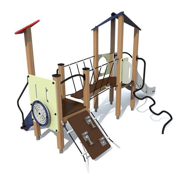 Детский игровой комплекс с горкой 4417