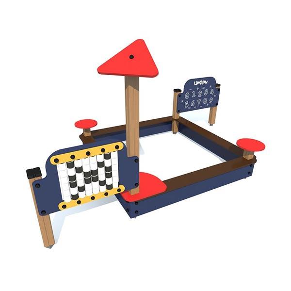 Игровой комплекс с песочницей и панелями 4436