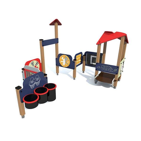 Детский игровой комплекс с развивающим панелями 4435