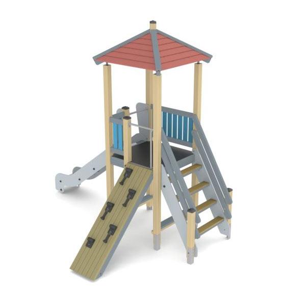 Горка для детской площадки деревянная К1104