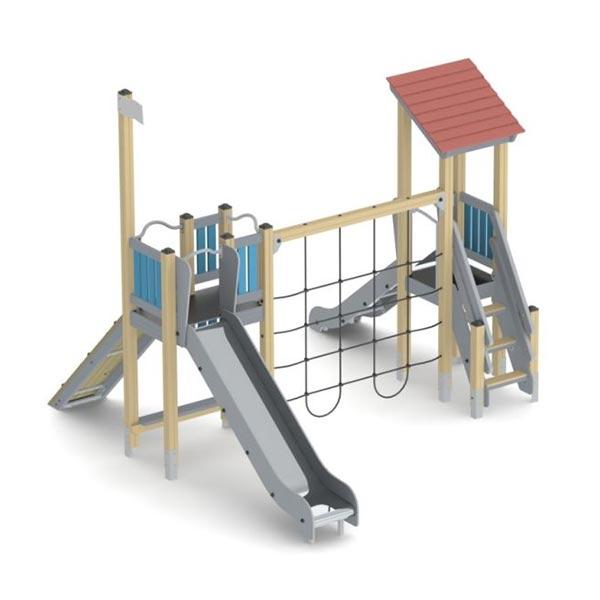 Детский игровой комплекс с горкой К1212