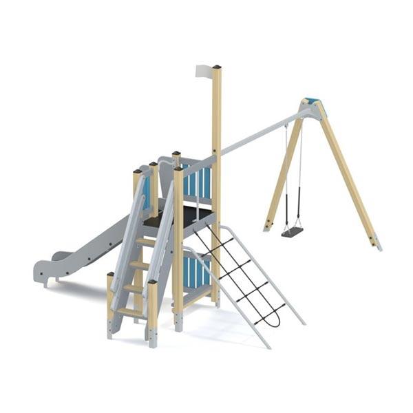 Детский игровой комплекс с горкой и качелями КS1112