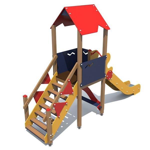 Детский игровой комплекс с горкой 1102