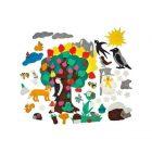 Игра из ковролина Четыре дерева