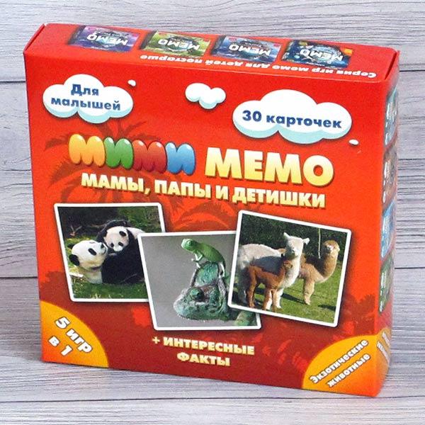Игра Мими Мемо Экзотические животные